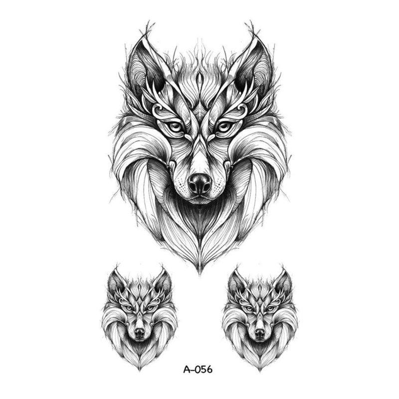 Эскиз для тату - волк