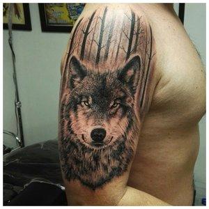 Взгляд волка - тату