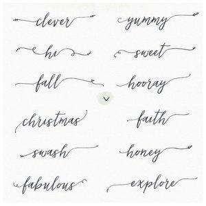Нежный шрифт для простых татуировок