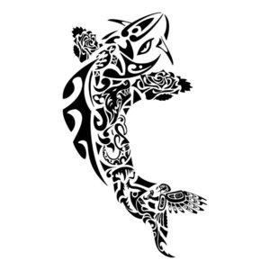 Эскиз тату - абстрактная рыба