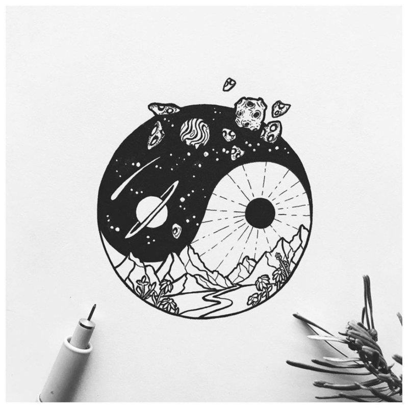 Символическая тематика эскиза для тату