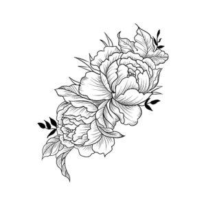 Красивый цветок - эскиз тату для девушки