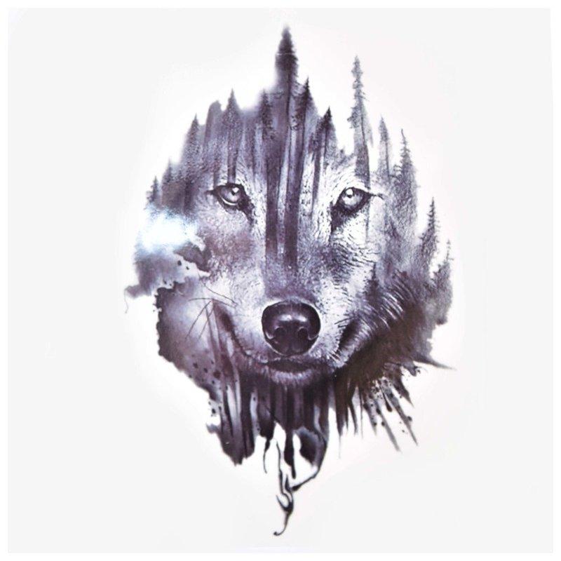 Мудрый волк - эскиз для тату