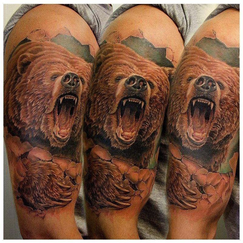 Медведь в стиле реализма
