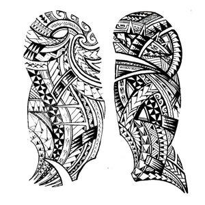 Эскиз для тату маори