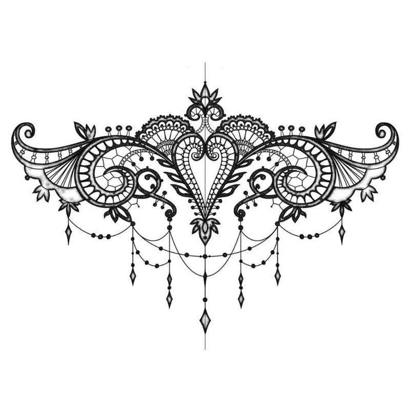 Эскиз этно-татуировки с узорами