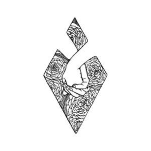 Любовная тематика эскиза для тату