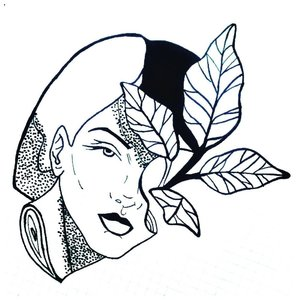 Эскиз тату лица женщины