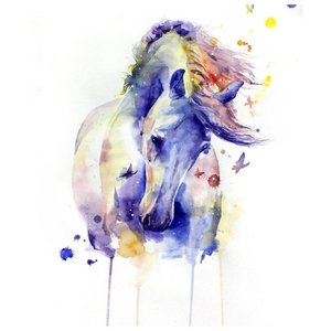 Акварельный эскиз лошади