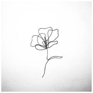 Цветок эскиз для тату
