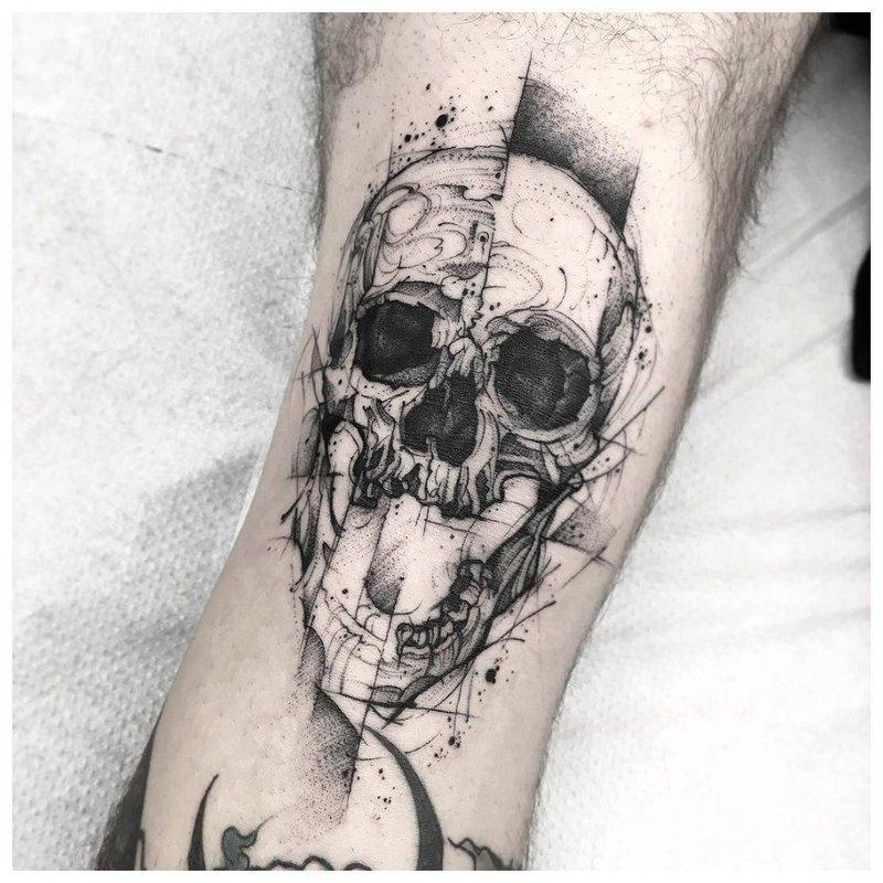 Тату череп