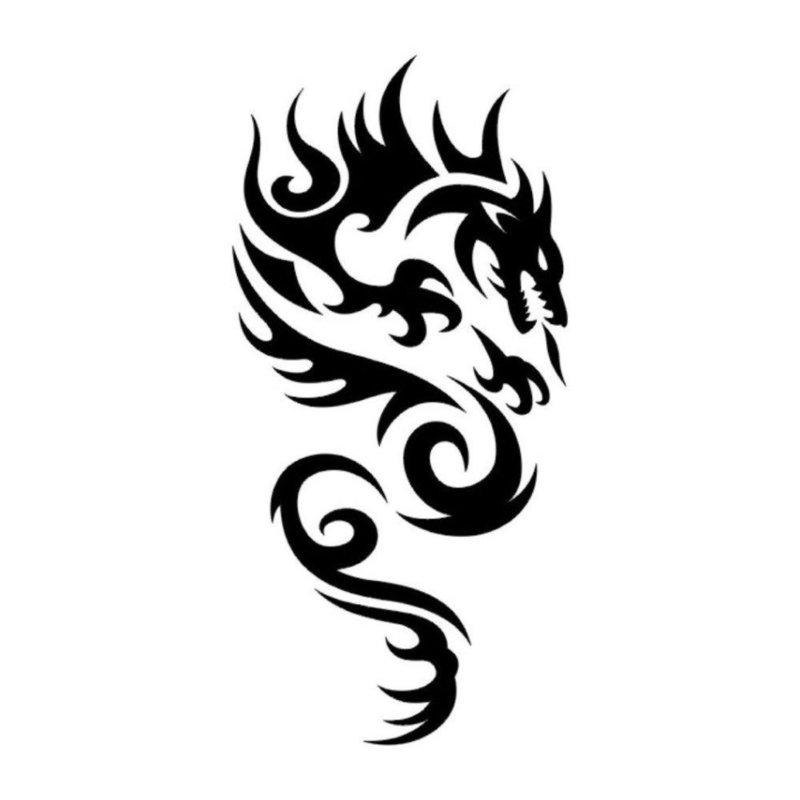 Мифическое животное - эскиз для тату