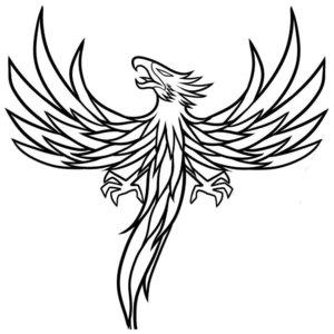 Мистическое животное - эскиз для тату