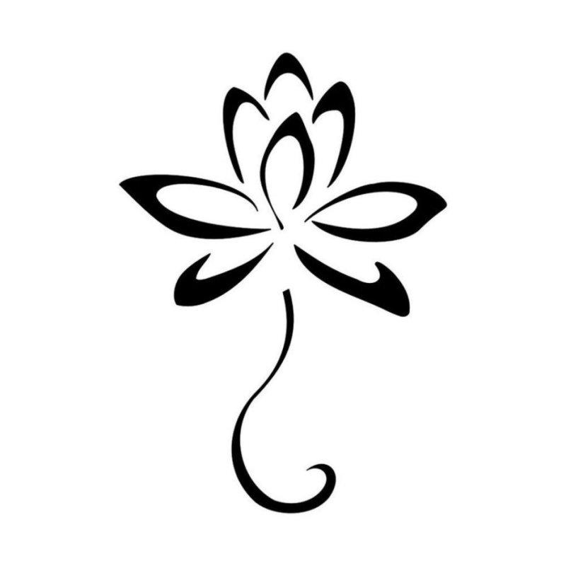 Нежный цветок - эскиз для тату