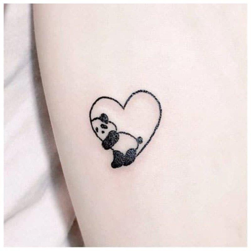 Панда - эскиз для тату