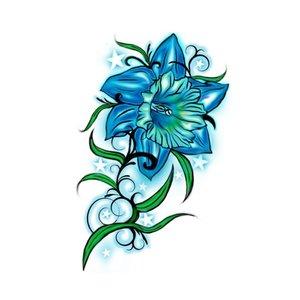 """Цветной эскиз """"Голубая лилия"""""""