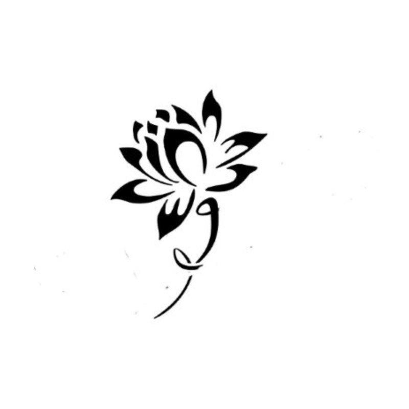 Эскиз для тату - цветок