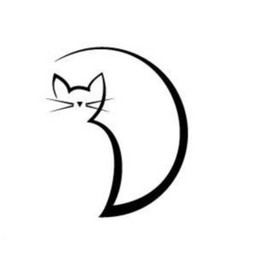 Кошечка - эскиз для тату