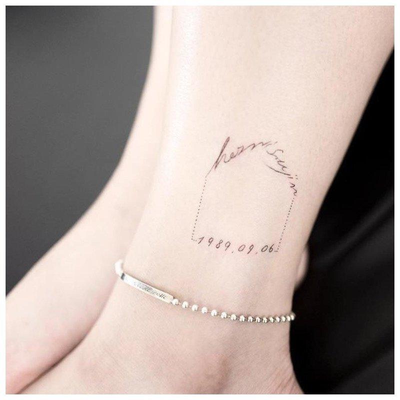 Аккуратная надпись тату