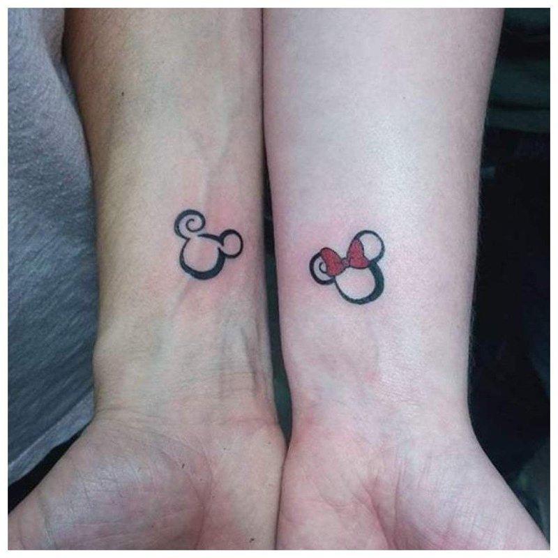 Любовное парное тату