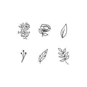 Эскизы цветов для мини-тату