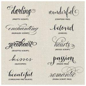 Красивые шрифты для надписей