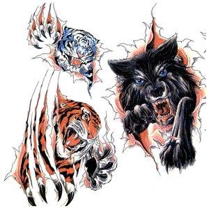 Эскизы цветных тату с животными