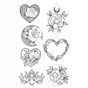 Любовная тематика эскизов для тату