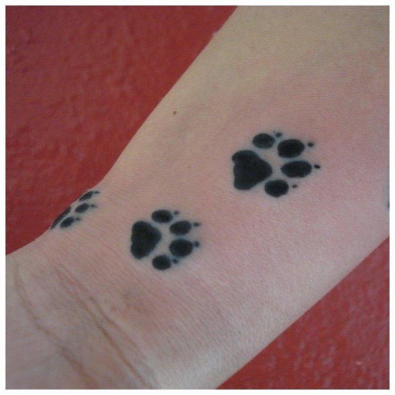 Лапки животного тату