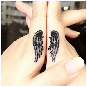 Крылья ангела тату
