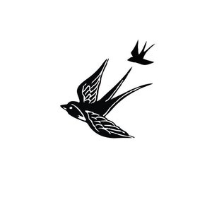Эскиз птиц для мини-тату