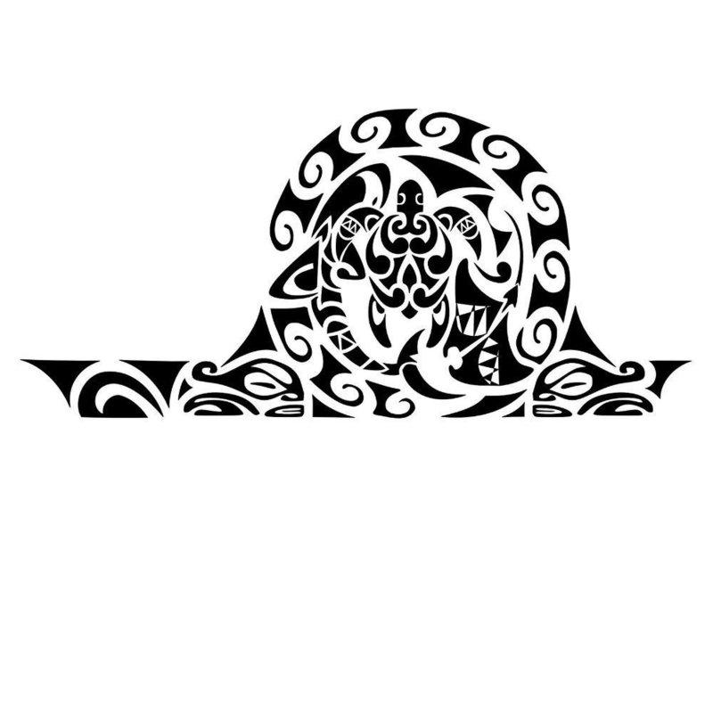 """Эскиз в технике """"этно"""" с черепахой"""
