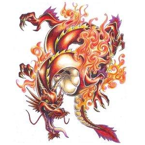 Цветной дракон - эскиз