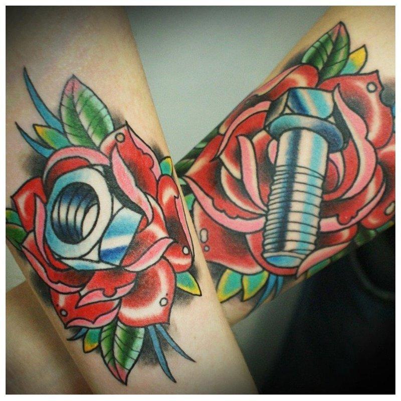 Парные олдскул-татуировки