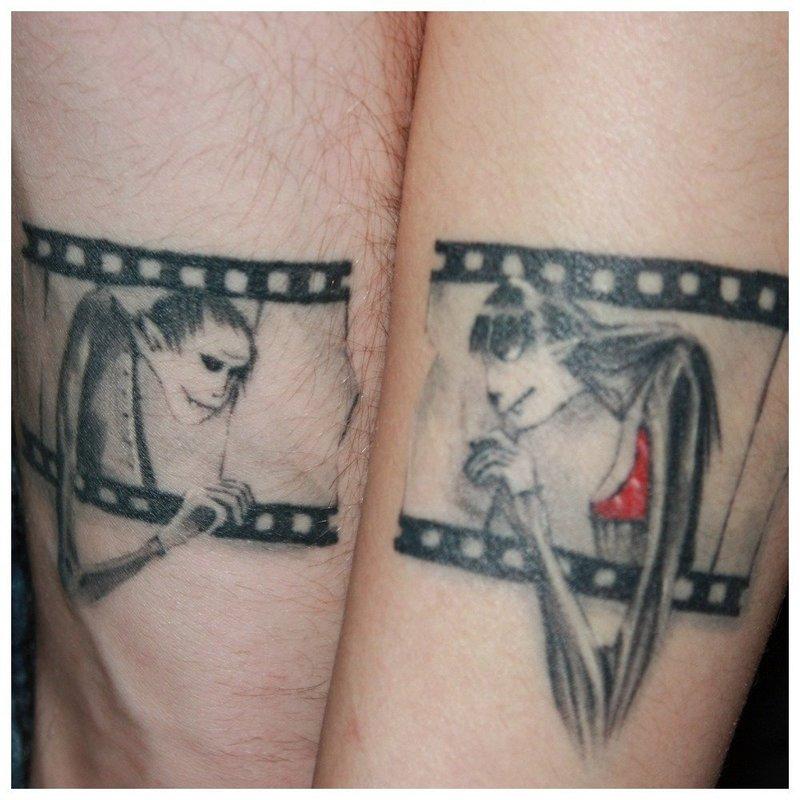 Оригинальное тату для влюбленных