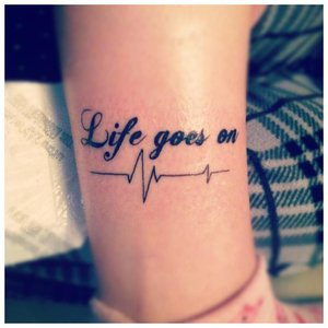 Необычная надпись для тату