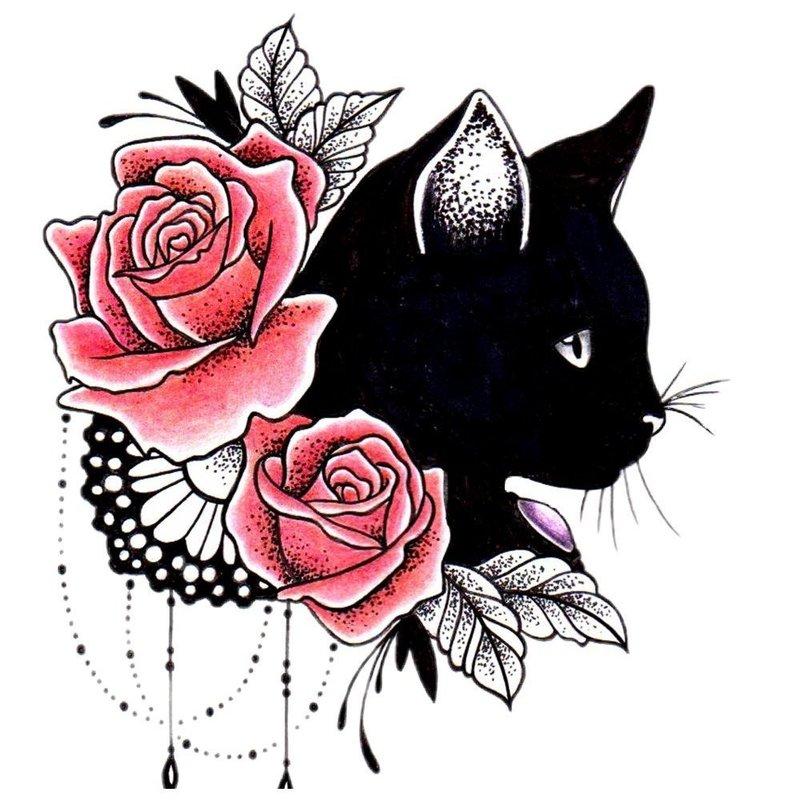 Открытка днем, картинки для тату черно белые для девочек