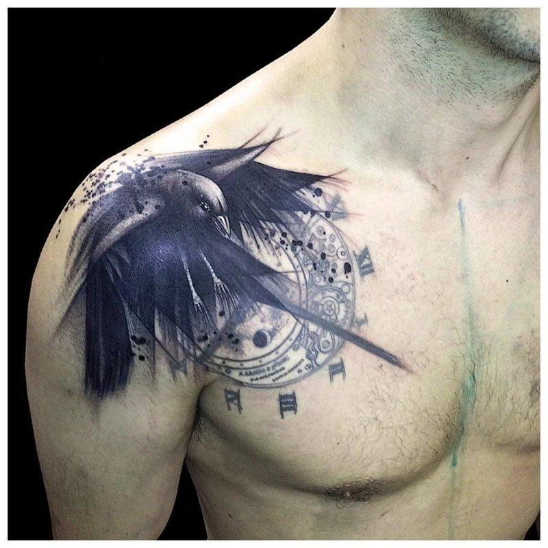 Татуировка ворона