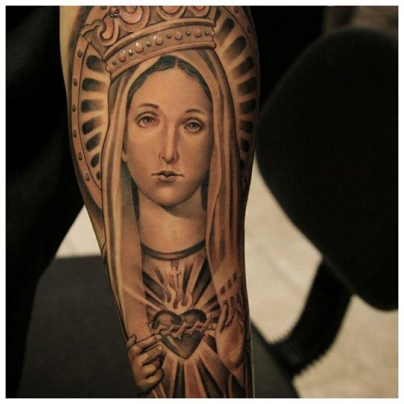 Тату Девы Марии