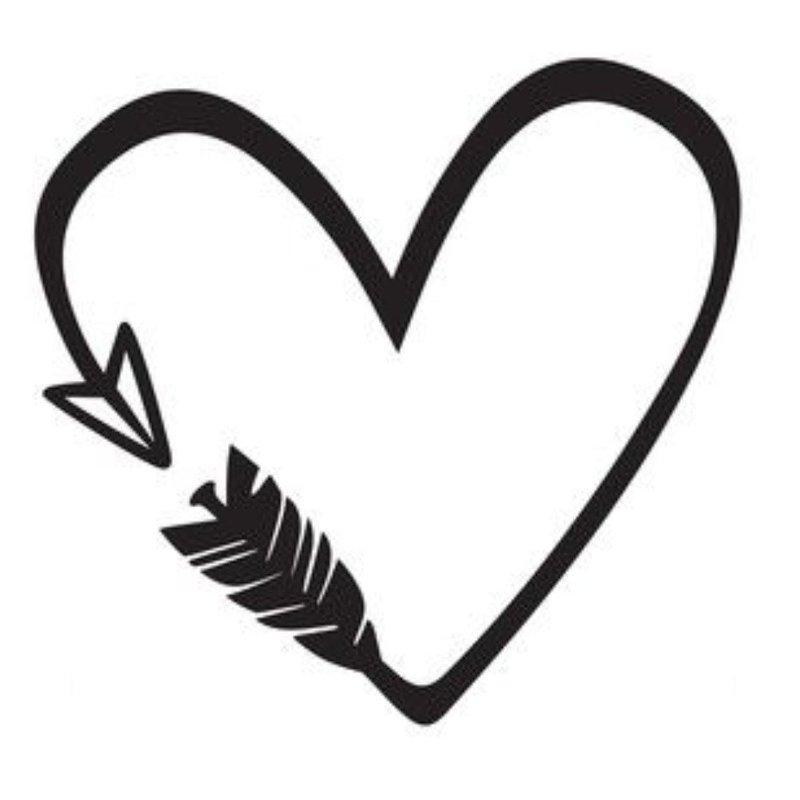 Сердце - эскиз тату