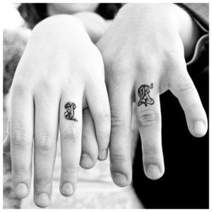 Парное тату для мужа и жены на руке