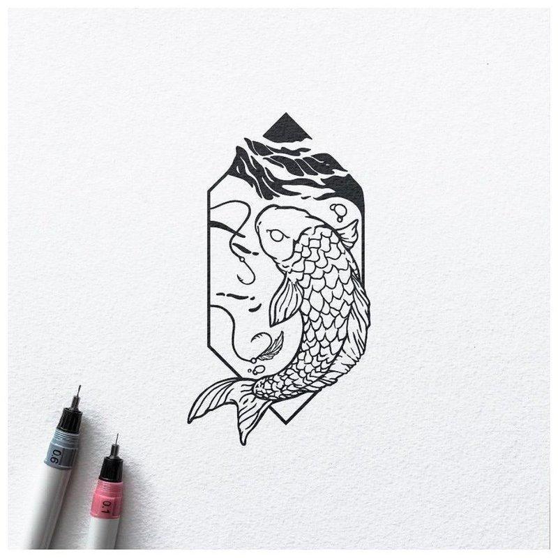 Минималистический эскиз для тату