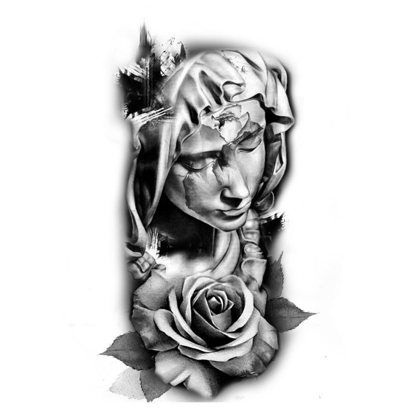 Статуя с розой