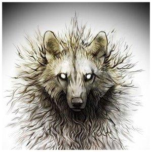 Страшный волк - эскиз для тату