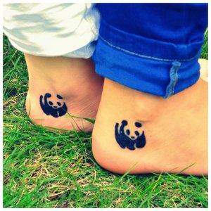 Панда - оригинальное тату
