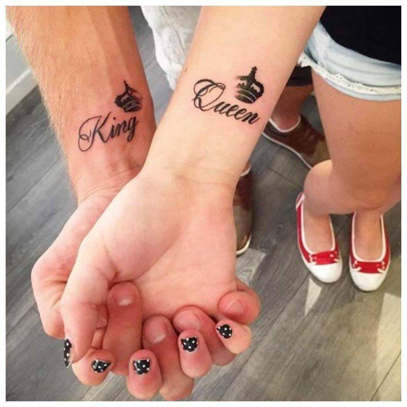 Надпись тату для влюбленных