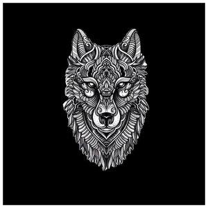Эскиз тату с волком