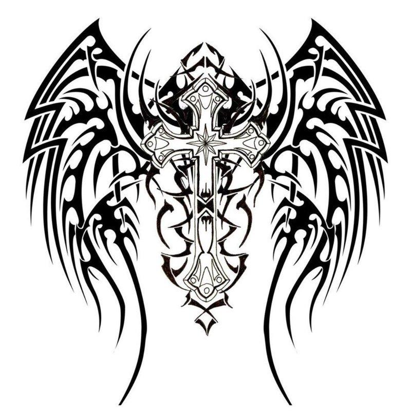 Эскиз для тату с крыльями