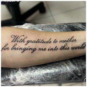 Надпись тату на руке