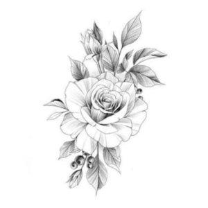 Цветочный эскиз для тату
